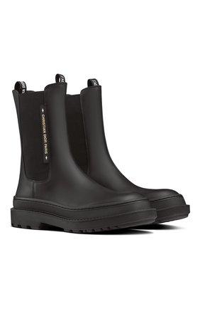 Женские ботинки dior trial DIOR черного цвета, арт. KCI712VEAS900   Фото 2 (Материал внешний: Резина; Женское Кросс-КТ: Челси-ботинки)