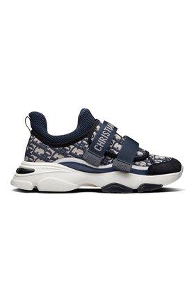 Женские текстильные кроссовки d-wander DIOR синего цвета, арт. KCK299OBYS56B   Фото 1 (Материал внешний: Текстиль)