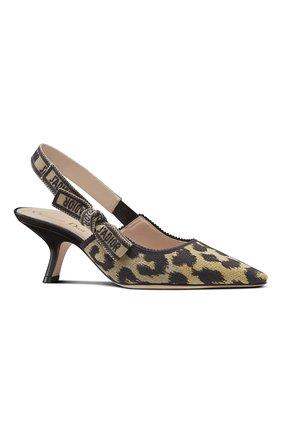 Женские текстильные туфли j'adior DIOR бежевого цвета, арт. KCP866DLPS26U   Фото 2 (Материал внешний: Текстиль; Каблук тип: Устойчивый; Каблук высота: Средний)