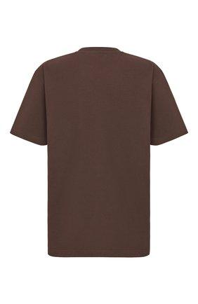 Мужская хлопковая футболка DIOR коричневого цвета, арт. 943J605A0554C731   Фото 2 (Материал внешний: Хлопок; Принт: С принтом; Рукава: Короткие; Стили: Кэжуэл)
