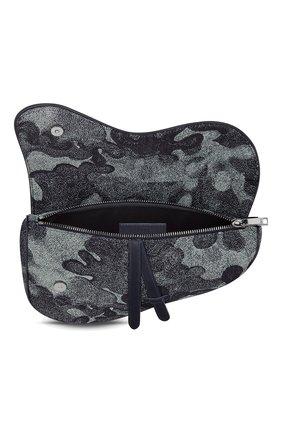 Мужская текстильная сумка saddle dior x peter doig DIOR темно-синего цвета, арт. 1ADPO093UDCH07E | Фото 2 (Материал: Текстиль)