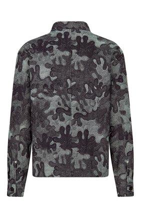 Мужская джинсовая куртка-рубашка dior x peter doig DIOR темно-синего цвета, арт. 013D488B5340C580 | Фото 2 (Материал внешний: Хлопок; Кросс-КТ: Куртка, Деним; Длина (верхняя одежда): Короткие; Стили: Кэжуэл)