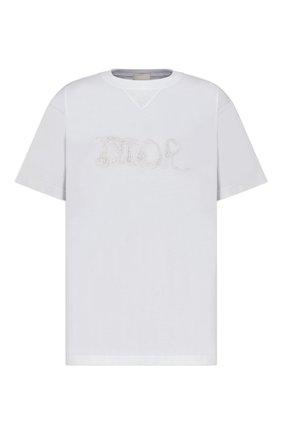 Мужская хлопковая футболка dior x peter doig DIOR белого цвета, арт. 143J685C0677C080   Фото 1 (Материал внешний: Хлопок; Принт: С принтом; Рукава: Короткие; Стили: Кэжуэл)