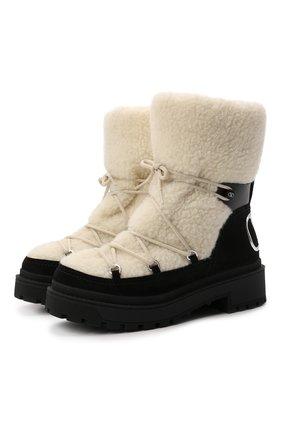 Женские меховые ботинки trekkgirl VALENTINO черного цвета, арт. WW2S0CU9/CWH | Фото 1 (Материал утеплителя: Натуральный мех; Каблук высота: Низкий; Материал внешний: Натуральный мех; Подошва: Платформа; Женское Кросс-КТ: Зимние ботинки)