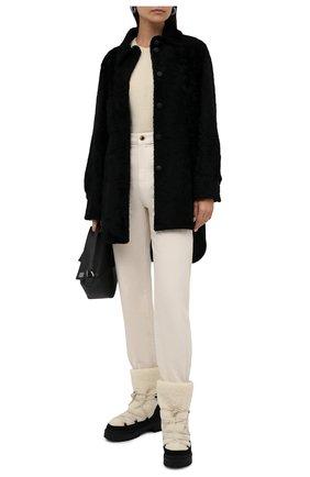 Женские меховые ботинки trekkgirl VALENTINO черного цвета, арт. WW2S0CU9/CWH | Фото 2 (Материал утеплителя: Натуральный мех; Каблук высота: Низкий; Материал внешний: Натуральный мех; Подошва: Платформа; Женское Кросс-КТ: Зимние ботинки)