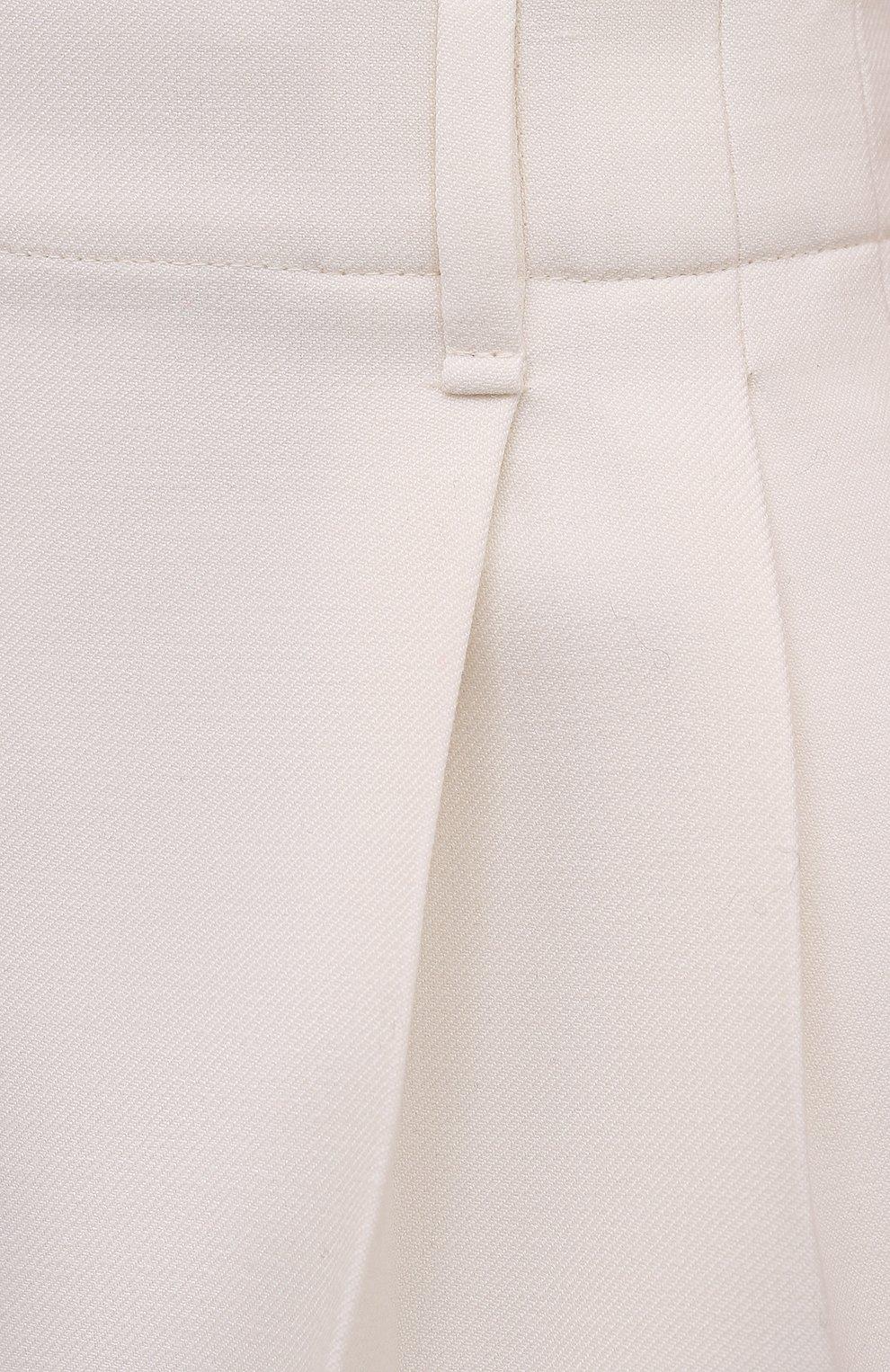 Женские шерстяные шорты VALENTINO белого цвета, арт. WB0RF1T06LR   Фото 5 (Материал внешний: Шерсть; Длина Ж (юбки, платья, шорты): Мини; Стили: Кэжуэл)