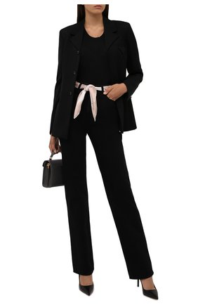 Женский шелковый платок VALENTINO кремвого цвета, арт. WW0EI114/NQX   Фото 2 (Материал: Шелк, Текстиль)