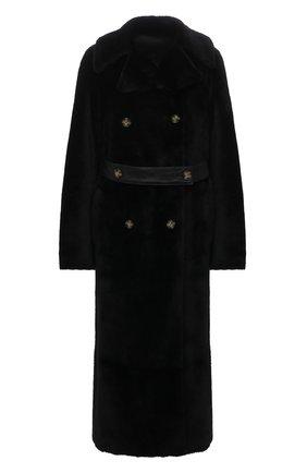 Женская дубленка ANNE VEST черного цвета, арт. AW21/01/206/12/TRENCH C0AT | Фото 1 (Материал внешний: Натуральный мех; Длина (верхняя одежда): Длинные; Рукава: Длинные; Стили: Кэжуэл; Женское Кросс-КТ: Мех)