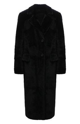 Женская шуба из овчины ANNE VEST черного цвета, арт. AW21/01/220/01/TH0RA | Фото 1 (Длина (верхняя одежда): Длинные; Рукава: Длинные; Материал внешний: Натуральный мех; Стили: Кэжуэл; Женское Кросс-КТ: Мех)