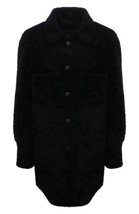 Женская двусторонняя дубленка ANNE VEST черного цвета, арт. AW21/01/303/01/AVRIL SHIRT | Фото 1 (Рукава: Длинные; Материал внешний: Натуральный мех; Длина (верхняя одежда): До середины бедра; Стили: Кэжуэл; Женское Кросс-КТ: Мех)