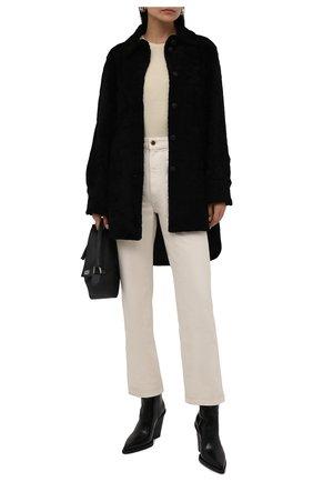Женская двусторонняя дубленка ANNE VEST черного цвета, арт. AW21/01/303/01/AVRIL SHIRT | Фото 2 (Рукава: Длинные; Материал внешний: Натуральный мех; Длина (верхняя одежда): До середины бедра; Стили: Кэжуэл; Женское Кросс-КТ: Мех)