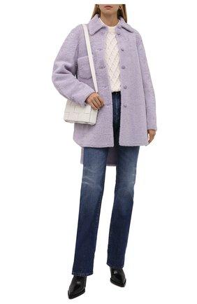 Женская двусторонняя дубленка ANNE VEST сиреневого цвета, арт. AW21/01/303/23/AVRIL SHIRT | Фото 2 (Длина (верхняя одежда): До середины бедра; Рукава: Длинные; Материал внешний: Натуральный мех; Стили: Кэжуэл; Женское Кросс-КТ: Мех)
