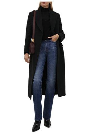 Женское шерстяное пальто ALEXANDER MCQUEEN черного цвета, арт. 677528/QJACM | Фото 2 (Материал внешний: Шерсть; Материал подклада: Купро; Рукава: Длинные; Длина (верхняя одежда): Длинные; Стили: Гламурный; 1-2-бортные: Двубортные)