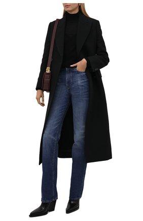 Женский кашемировый пуловер ALEXANDER MCQUEEN черного цвета, арт. 679421/Q1AXK   Фото 2 (Материал внешний: Кашемир, Шерсть; Длина (для топов): Стандартные; Рукава: Длинные; Стили: Гламурный; Женское Кросс-КТ: Пуловер-одежда)