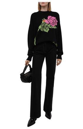 Женский шерстяной свитер MSGM черного цвета, арт. 3141MDM148 217748 | Фото 2 (Материал внешний: Синтетический материал, Шерсть; Рукава: Длинные; Длина (для топов): Стандартные; Стили: Кэжуэл; Женское Кросс-КТ: Свитер-одежда)