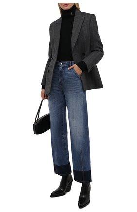Женская водолазка из шерсти и кашемира SAINT LAURENT черного цвета, арт. 666098/Y75DM   Фото 2 (Длина (для топов): Стандартные; Материал внешний: Кашемир, Шерсть; Рукава: Длинные; Стили: Гламурный; Женское Кросс-КТ: Водолазка-одежда)