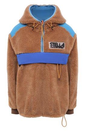 Женская анорак STELLA MCCARTNEY светло-коричневого цвета, арт. 603726/SSB03 | Фото 1 (Материал внешний: Синтетический материал; Рукава: Длинные; Материал подклада: Синтетический материал; Стили: Гламурный; Женское Кросс-КТ: кардиган-трикотаж; Длина (верхняя одежда): Короткие; Кросс-КТ: Куртка)