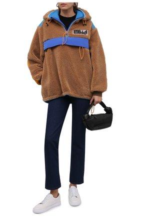 Женская анорак STELLA MCCARTNEY светло-коричневого цвета, арт. 603726/SSB03 | Фото 2 (Материал внешний: Синтетический материал; Рукава: Длинные; Материал подклада: Синтетический материал; Стили: Гламурный; Женское Кросс-КТ: кардиган-трикотаж; Длина (верхняя одежда): Короткие; Кросс-КТ: Куртка)