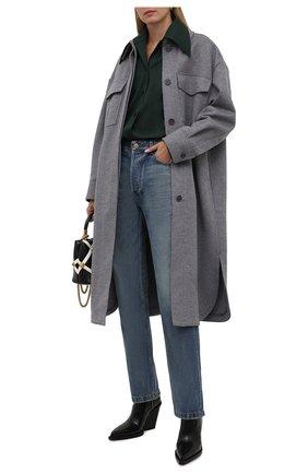 Женское шерстяное пальто STELLA MCCARTNEY светло-серого цвета, арт. 603596/SPB11 | Фото 2 (Рукава: Длинные; Длина (верхняя одежда): Длинные; Материал внешний: Шерсть; Стили: Кэжуэл; 1-2-бортные: Однобортные)