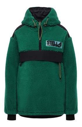 Женская анорак STELLA MCCARTNEY зеленого цвета, арт. 603220/SSB03 | Фото 1 (Материал подклада: Синтетический материал; Материал внешний: Синтетический материал; Рукава: Длинные; Длина (верхняя одежда): Короткие; Стили: Спорт-шик; Кросс-КТ: Куртка)