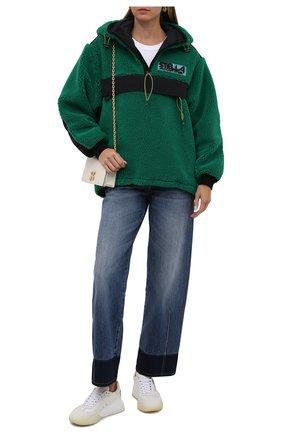 Женская анорак STELLA MCCARTNEY зеленого цвета, арт. 603220/SSB03 | Фото 2 (Материал подклада: Синтетический материал; Материал внешний: Синтетический материал; Рукава: Длинные; Длина (верхняя одежда): Короткие; Стили: Спорт-шик; Кросс-КТ: Куртка)