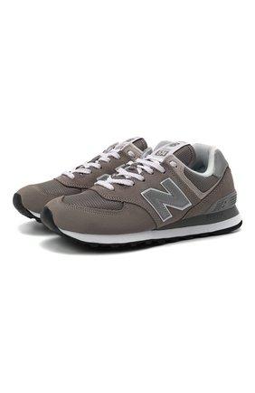 Женские комбинированные кроссовки NEW BALANCE серого цвета, арт. WL574EG/B | Фото 1 (Подошва: Платформа; Материал внешний: Текстиль)