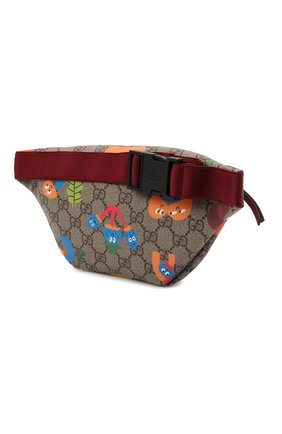 Детская поясная сумка GUCCI бежевого цвета, арт. 502095/22BDN   Фото 2 (Материал: Экокожа)