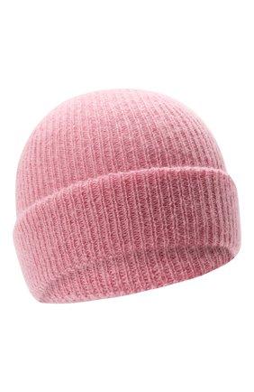 Детского шерстяная шапка IL GUFO розового цвета, арт. A21E0065EM431 | Фото 1 (Материал: Текстиль, Синтетический материал, Шерсть)