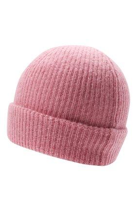 Детского шерстяная шапка IL GUFO розового цвета, арт. A21E0065EM431 | Фото 2 (Материал: Текстиль, Синтетический материал, Шерсть)