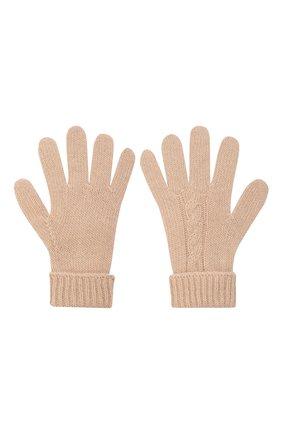 Детские шерстяные перчатки IL GUFO бежевого цвета, арт. A21GS039EM220/2A-4A   Фото 2 (Материал: Шерсть)