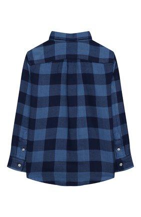 Детская хлопковая рубашка POLO RALPH LAUREN синего цвета, арт. 322850936 | Фото 2 (Материал внешний: Хлопок; Рукава: Длинные; Случай: Повседневный; Ростовка одежда: 5 лет | 110 см, 6 лет | 116 см, 7 лет | 122 см)