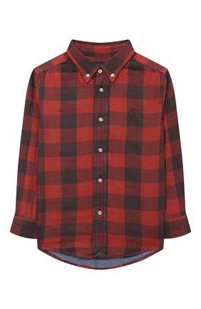 Детская хлопковая рубашка POLO RALPH LAUREN красного цвета, арт. 321850936 | Фото 1 (Материал внешний: Хлопок; Рукава: Длинные; Случай: Повседневный; Ростовка одежда: 18 мес | 86 см, 3 года | 98 см, 4 года | 104 см)