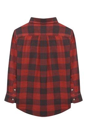 Детская хлопковая рубашка POLO RALPH LAUREN красного цвета, арт. 321850936 | Фото 2 (Материал внешний: Хлопок; Рукава: Длинные; Случай: Повседневный; Ростовка одежда: 18 мес | 86 см, 3 года | 98 см, 4 года | 104 см)