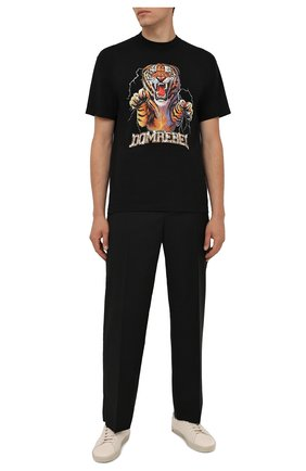 Мужская хлопковая футболка DOMREBEL черного цвета, арт. MRAGE/B0X T | Фото 2 (Длина (для топов): Стандартные; Рукава: Короткие; Материал внешний: Хлопок; Принт: С принтом; Стили: Гранж)