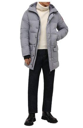 Мужская пуховик armstrong CANADA GOOSE серого цвета, арт. 5088M | Фото 2 (Материал подклада: Синтетический материал; Материал внешний: Синтетический материал; Материал утеплителя: Пух и перо; Кросс-КТ: Куртка; Рукава: Длинные; Длина (верхняя одежда): До середины бедра; Мужское Кросс-КТ: пуховик-короткий; Стили: Кэжуэл)