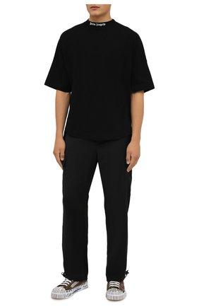 Мужские текстильные кеды portofino light DOLCE & GABBANA хаки цвета, арт. CS1888/A0788   Фото 2 (Материал внешний: Текстиль; Материал внутренний: Натуральная кожа; Подошва: Плоская)