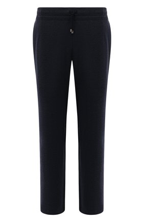 Мужские брюки CAPOBIANCO темно-синего цвета, арт. 11M706.SPR0./58-60   Фото 1 (Длина (брюки, джинсы): Стандартные; Материал внешний: Синтетический материал, Хлопок; Случай: Повседневный; Стили: Кэжуэл)