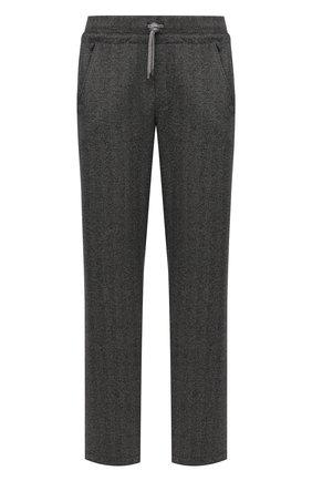 Мужские брюки CAPOBIANCO серого цвета, арт. 11M706.SPR0./58-60   Фото 1 (Длина (брюки, джинсы): Стандартные; Материал внешний: Синтетический материал, Хлопок; Случай: Повседневный; Стили: Кэжуэл)