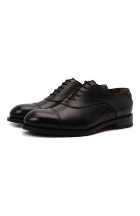 Мужские кожаные оксфорды ZEGNA COUTURE черного цвета, арт. A5082X-LHB0C   Фото 1 (Материал внутренний: Натуральная кожа; Стили: Классический)