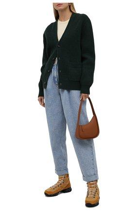 Женские замшевые ботинки PREMIATA светло-коричневого цвета, арт. MIDTRECD/VAR221   Фото 2 (Материал утеплителя: Натуральный мех; Подошва: Платформа; Каблук высота: Низкий; Женское Кросс-КТ: Хайкеры-ботинки; Материал внешний: Замша)