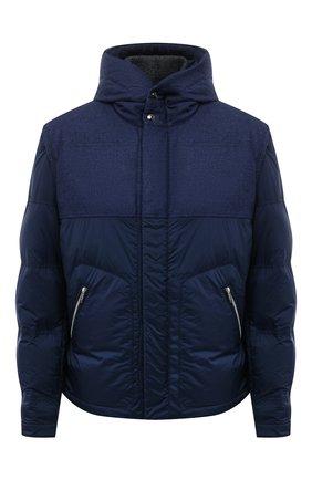 Мужская пуховая куртка CORTIGIANI темно-синего цвета, арт. 218622/0000/60-70 | Фото 1 (Длина (верхняя одежда): Короткие; Рукава: Короткие; Материал подклада: Синтетический материал; Материал внешний: Шерсть; Материал утеплителя: Пух и перо; Кросс-КТ: Куртка; Мужское Кросс-КТ: пуховик-короткий; Стили: Кэжуэл)