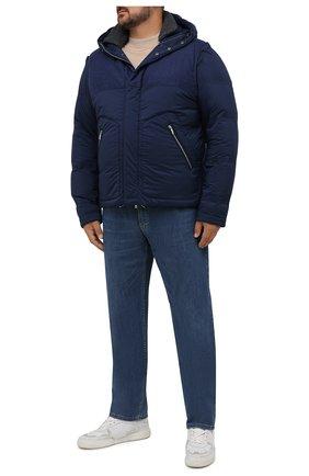 Мужская пуховая куртка CORTIGIANI темно-синего цвета, арт. 218622/0000/60-70   Фото 2 (Длина (верхняя одежда): Короткие; Рукава: Короткие; Материал подклада: Синтетический материал; Материал внешний: Шерсть; Материал утеплителя: Пух и перо; Кросс-КТ: Куртка; Мужское Кросс-КТ: пуховик-короткий; Стили: Кэжуэл)
