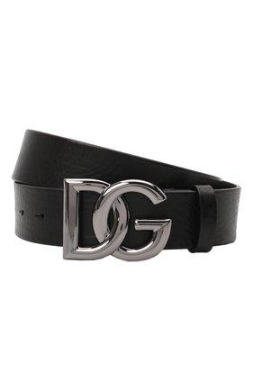 Мужской кожаный ремень DOLCE & GABBANA черного цвета, арт. BC4630/AV480 | Фото 1 (Случай: Повседневный)