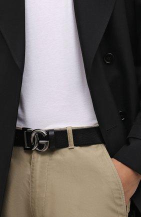 Мужской кожаный ремень DOLCE & GABBANA черного цвета, арт. BC4630/AV480 | Фото 2 (Случай: Повседневный)