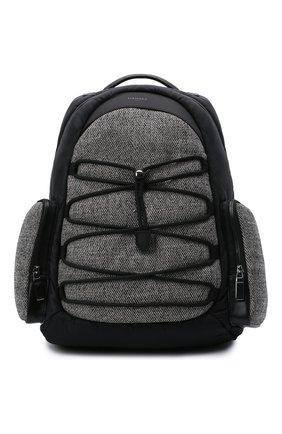 Мужской комбинированный рюкзак CANALI черного цвета, арт. P325934/NY00128 | Фото 1 (Материал: Текстиль)