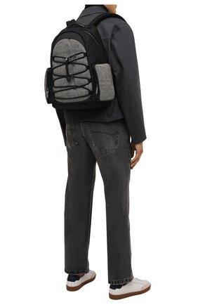 Мужской комбинированный рюкзак CANALI черного цвета, арт. P325934/NY00128 | Фото 2 (Материал: Текстиль)