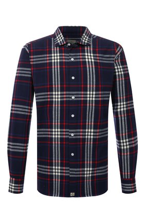 Мужская хлопковая рубашка SONRISA серого цвета, арт. IL7/F6112/47-51 | Фото 1 (Рукава: Длинные; Длина (для топов): Стандартные; Материал внешний: Хлопок; Случай: Повседневный; Воротник: Акула; Принт: Клетка; Рубашки М: Regular Fit; Манжеты: На пуговицах; Стили: Кэжуэл)