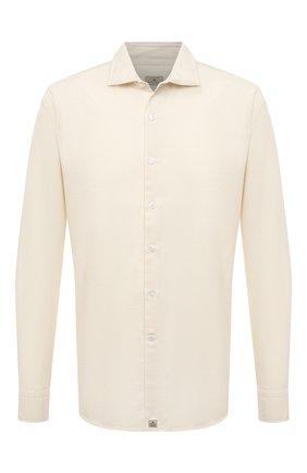 Мужская хлопковая рубашка SONRISA кремвого цвета, арт. IL7/F6108/47-51 | Фото 1 (Рукава: Длинные; Длина (для топов): Стандартные; Материал внешний: Хлопок; Случай: Повседневный; Воротник: Акула; Принт: Однотонные; Рубашки М: Regular Fit; Манжеты: На пуговицах; Стили: Кэжуэл)