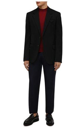 Мужские кожаные пенни-лоферы DOUCAL'S черного цвета, арт. DU2483DAK0UM023NN00 | Фото 2 (Материал утеплителя: Натуральный мех; Стили: Классический; Мужское Кросс-КТ: Лоферы-обувь)