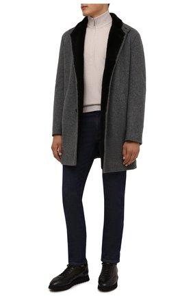 Мужские кожаные кроссовки DOUCAL'S темно-коричневого цвета, арт. DU2880WINNPM019TM00 | Фото 2 (Подошва: Массивная; Материал утеплителя: Натуральный мех; Стили: Классический)